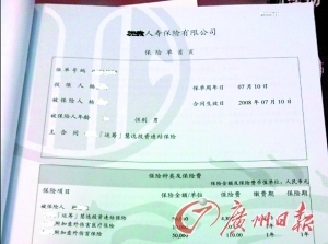 杨先生的投连险保单。