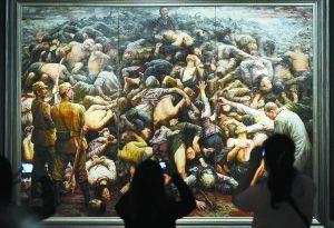 旅美画家李自健将其代表作捐赠给国家博物馆。这幅名为《南京大屠杀》的作品创作于2003年
