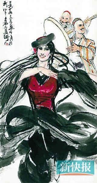 黄胄《于阗歌舞》1975年作,成交价1667.5万元。