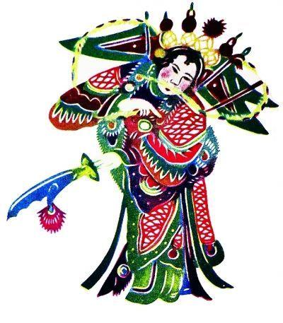 王老赏剪纸作品:京剧《烈火旗》中的双阳公主