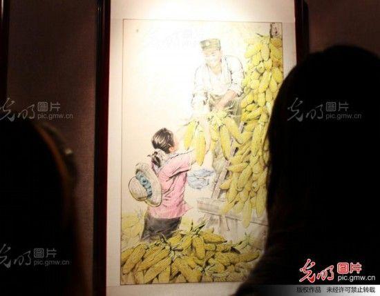 姜昆收藏馆画展现场