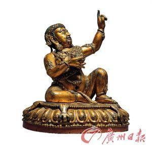 毗卢巴   明永乐   高29.2cm   宫廷   铜鎏金、漆金