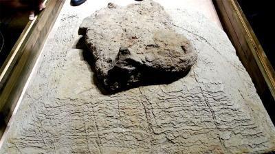 隋炀帝墓志、墓志盖原件首亮相 修复动物俑展出