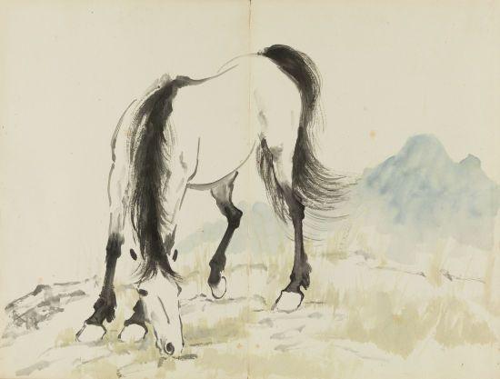 《十二生肖册》见徐悲鸿动物画马:近现代动物画睿智生趣