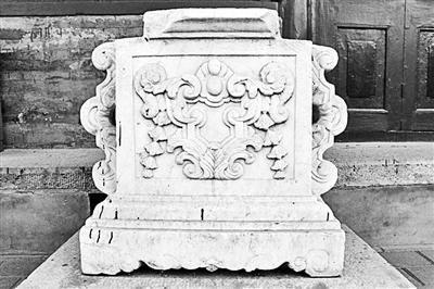 谐奇趣石刻:上世纪70年代由西洋楼遗址搬到地安门西大街153号院,2006年7月部分石刻归还圆明园。