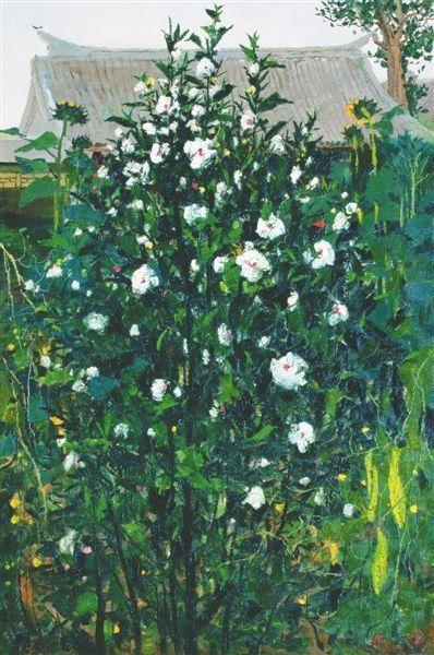 吴冠中作品《木槿》以6900万元成交。 本版图片均由主办方提供