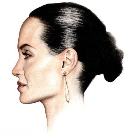 意画家绘好莱坞女星完美侧面水彩肖像画(5)_财
