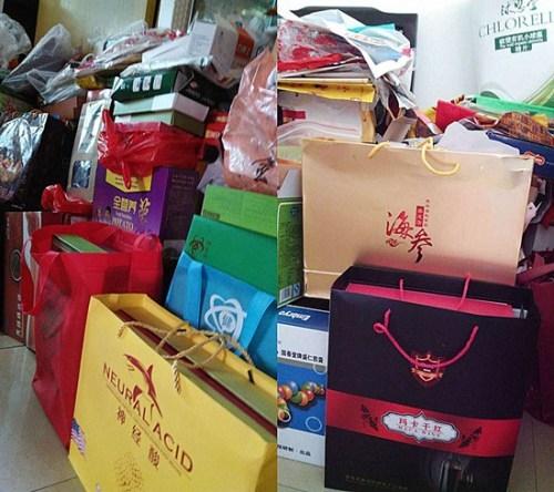 刘女士母亲购买的保健品。