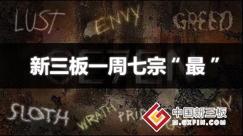 """新三板一周七宗""""最"""":股转修订股票挂牌业务指南"""