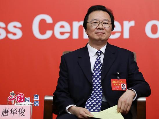 农业部党组成员、中国农业科学院院长,中国工程院院士唐华俊(中国网 高聪 摄)