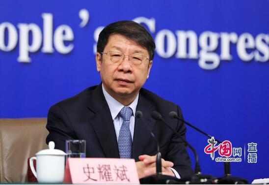 财政部副部长史耀斌 中国网高聪摄影