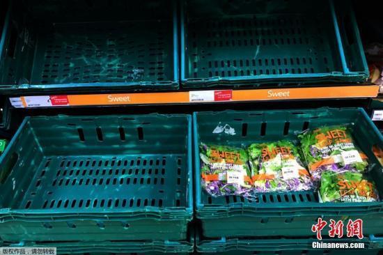 """英国零售商:""""无协议脱欧""""恐让超市空荡荡"""