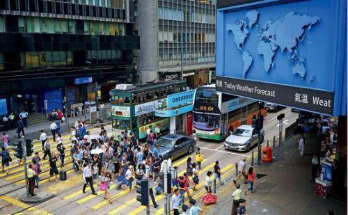 香港中环街头。图/中新