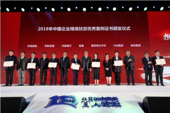 华海保险入选2018中国企业精准扶贫案例