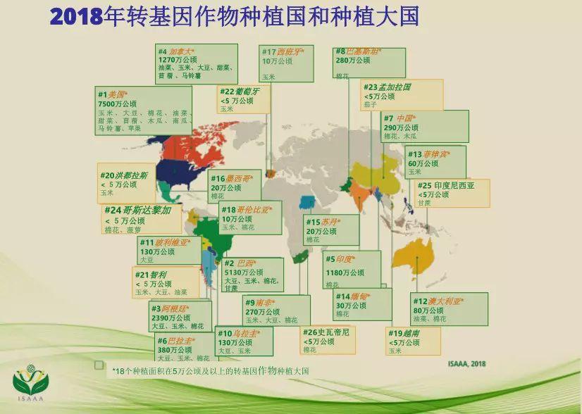 全球转基因作物种植面积连续三年增长转基因大豆占比过半