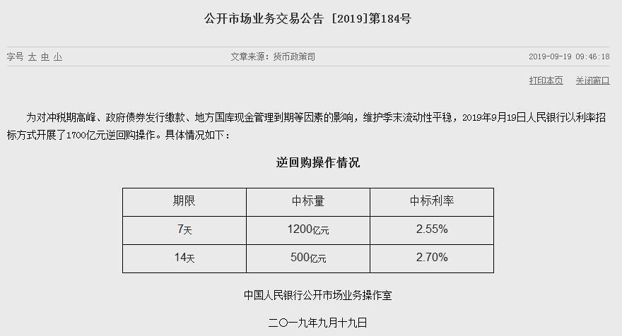 """央行单日""""放水""""1700亿元!中国是否会降息成焦点"""