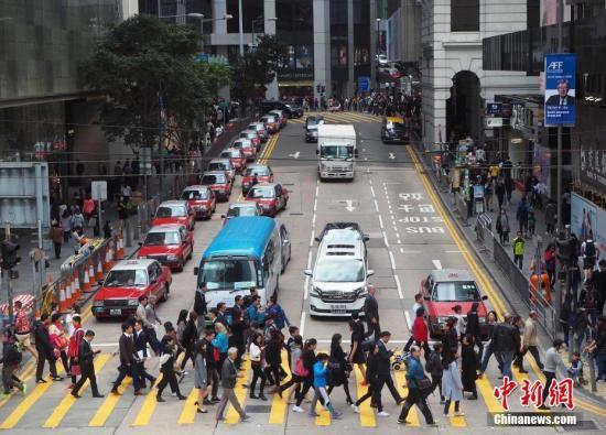 资料图:香港中环地带。中新社记者 洪少葵 摄