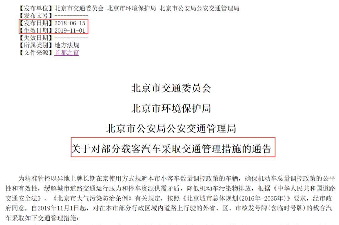 <b>北京最严外地车限行真的来了!影响至少70万车主</b>