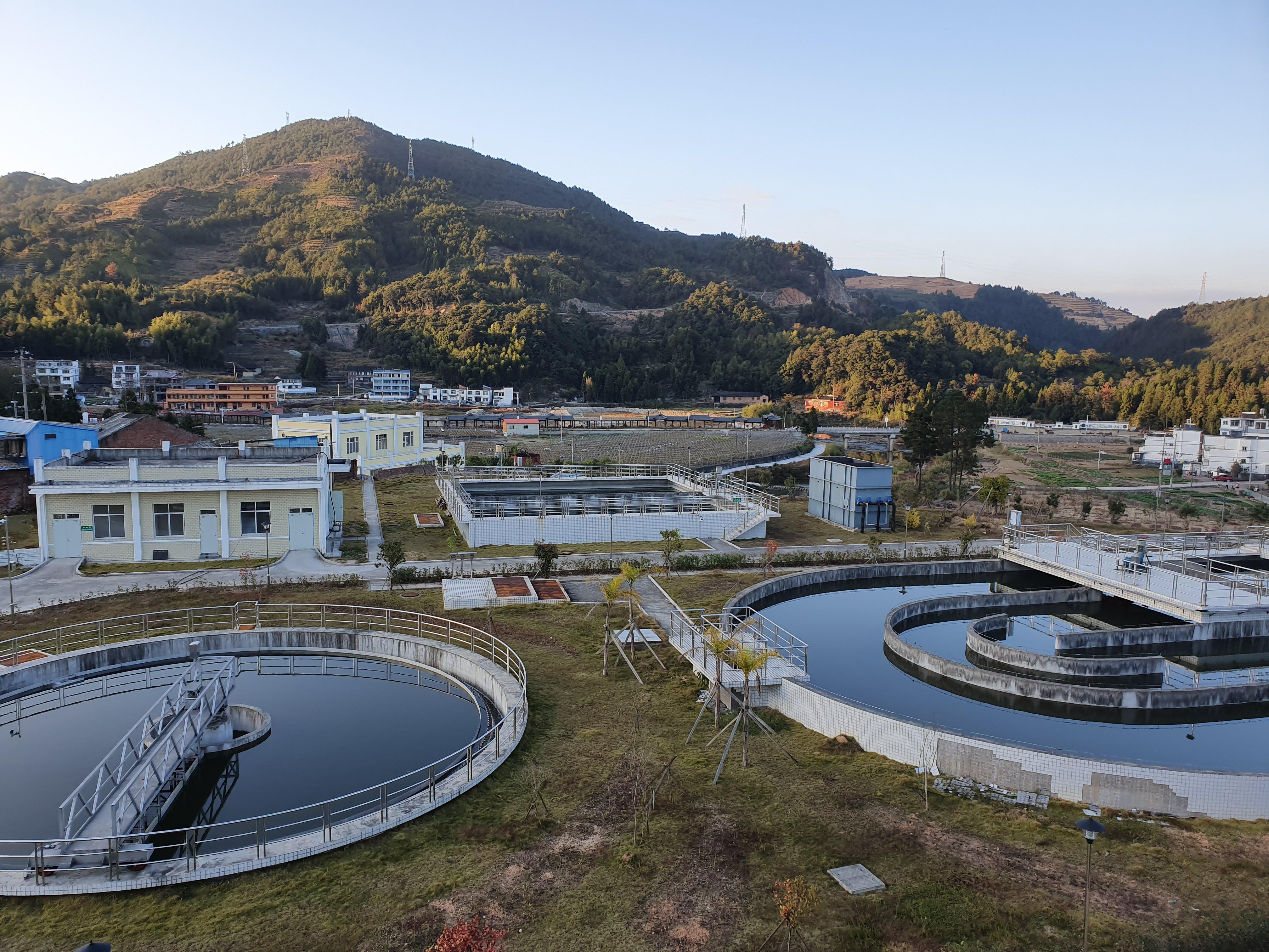 已建成的柘荣县第二污水处理厂