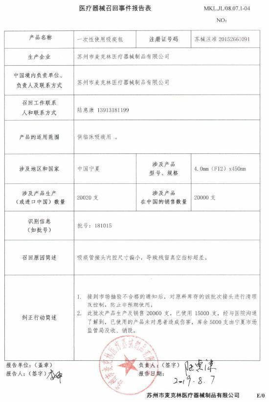 來源:江蘇省藥監局