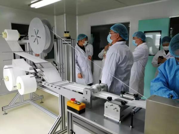△康芝药业旗下爱护公司口罩生产线
