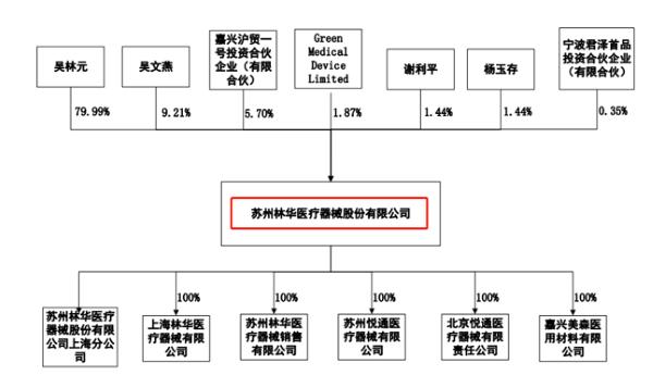 林华医疗股权结构图(来源:招股书)