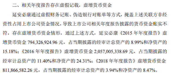 """延安必康发布的""""关于收到中国证券监督管理委员会陕西监管局《行政处罚事先告知书》的公告"""