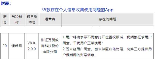 """万朋教育课后网APP遭消费者投诉""""侵犯隐私""""被网信办通报"""
