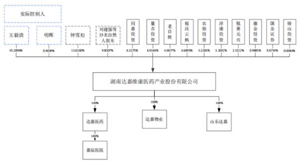 达嘉维康股权结构图(来源:招股书)