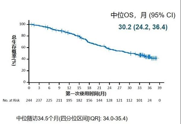 """""""二线治疗非小细胞肺癌mOS达30.2个月"""