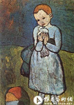 毕加索早期作品高清图片