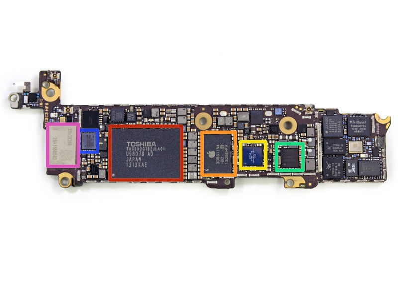 iPhone 5c采用聚碳酸酯塑料外壳,配备4英寸视网膜显示屏,搭载A6双核处理器,1GB内存,800万像素摄像头,机身比iPhone 5略厚,有白色、红色、绿色、蓝色和黄色五种配色可选。iPhone 5c与5s将在中国市场首发,16GB售价为4488元。