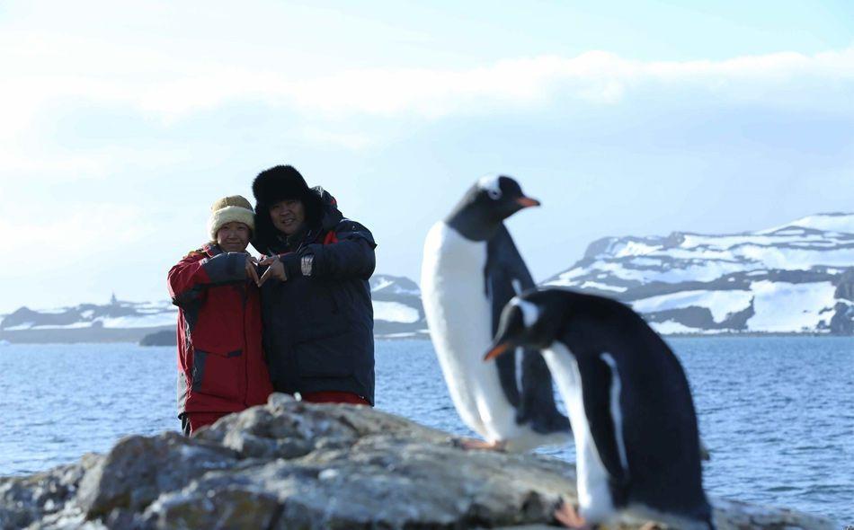 北极求婚南极结婚情侣合照曝光(高清组图)