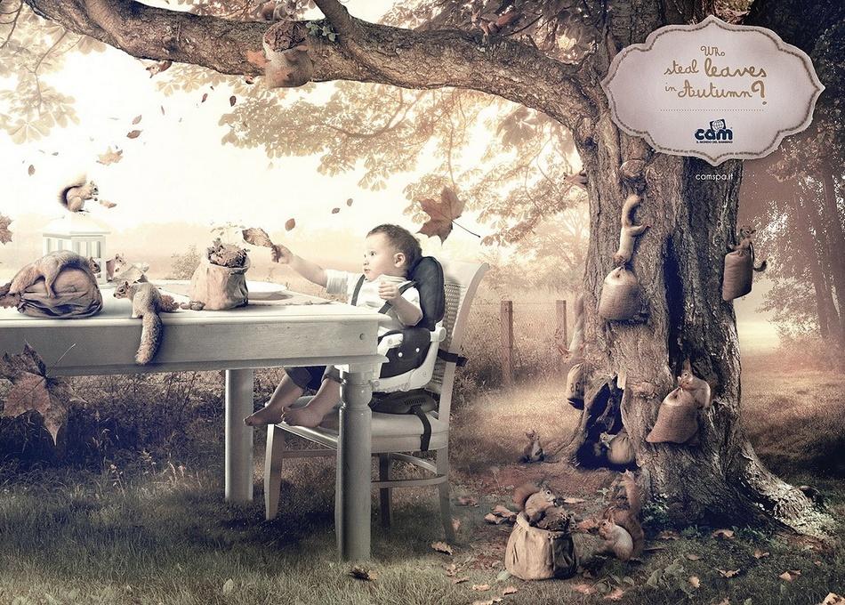 创意广告:孩子眼中的世界图片