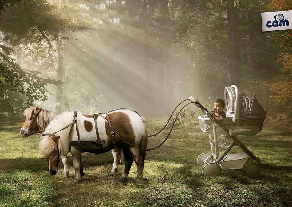 与动物有关的广告产品