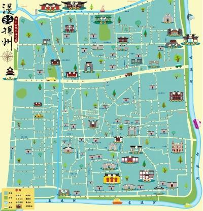 完成的手绘作品——史上最全版本的原创扬州古巷手绘地图《漫话扬州》