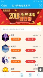 中国梦之声投票通道_财经博客排行榜评选决赛火爆进行中 投票送iphone7