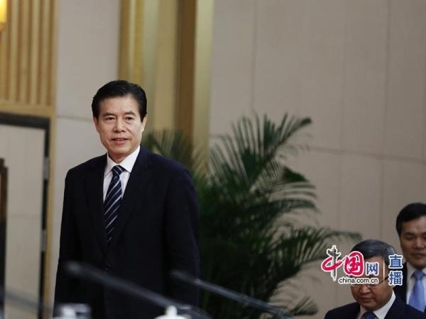 商务部部长钟山(中国网 高聪 摄影)-钟山谈如何建设经贸强国 明确六