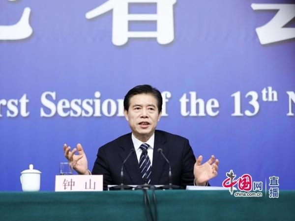 商务部部长钟山(中国网 高聪 摄影)-钟山 履行金融业对外开放承诺
