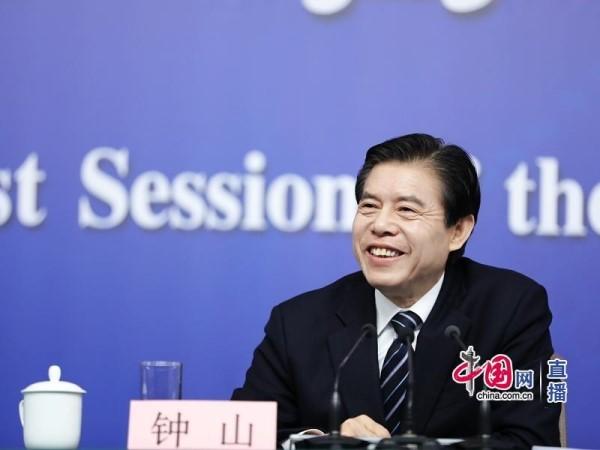 商务部部长钟山(中国网 高聪 摄影)-钟山 中国对外投资规模不断扩大