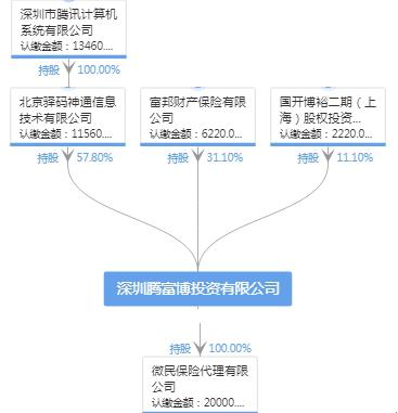 深圳腾富博投资有限公司股权结构图