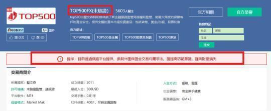 Top500外汇平台自称受圣文森特和格林纳丁斯国禁锢