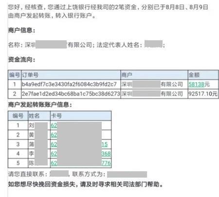 广州商品清理中心在回函中称,受害人资金最终被5名天然人提走